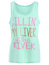 My Liver At The River Graphic Tank Top - MINT