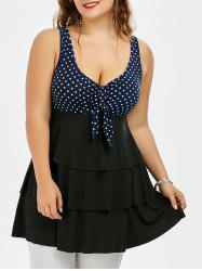 Empire Waist Layered Plus Size Tank Top