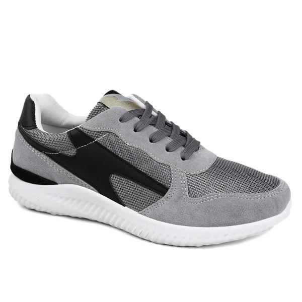 Hot Breathable Suede Insert Mesh Trainers