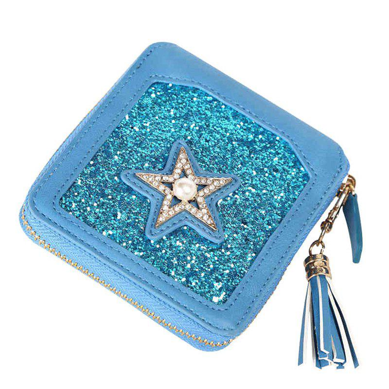 Star Glitter Zip Around Small Portefeuille