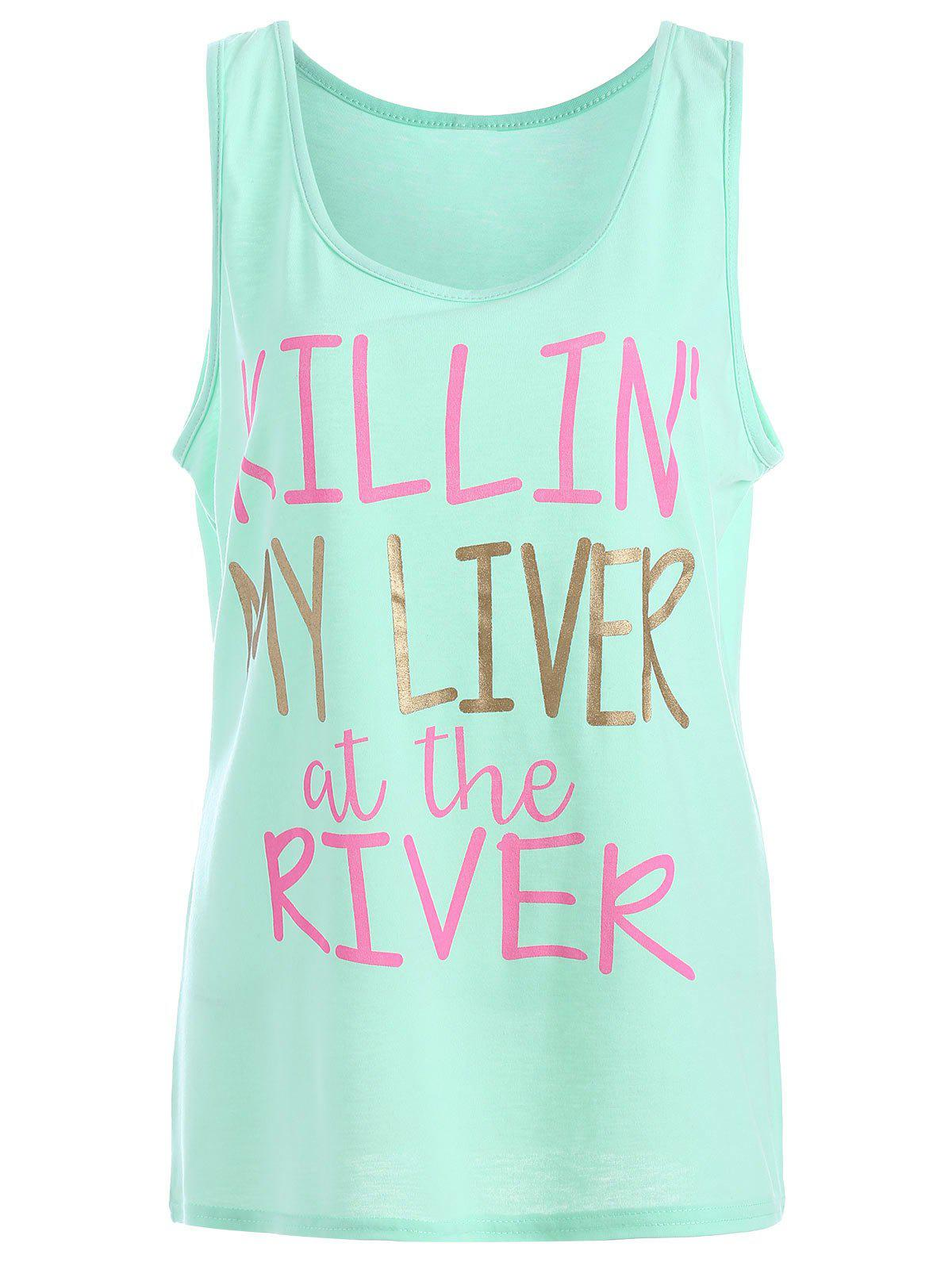 Unique My Liver At The River Graphic Tank Top