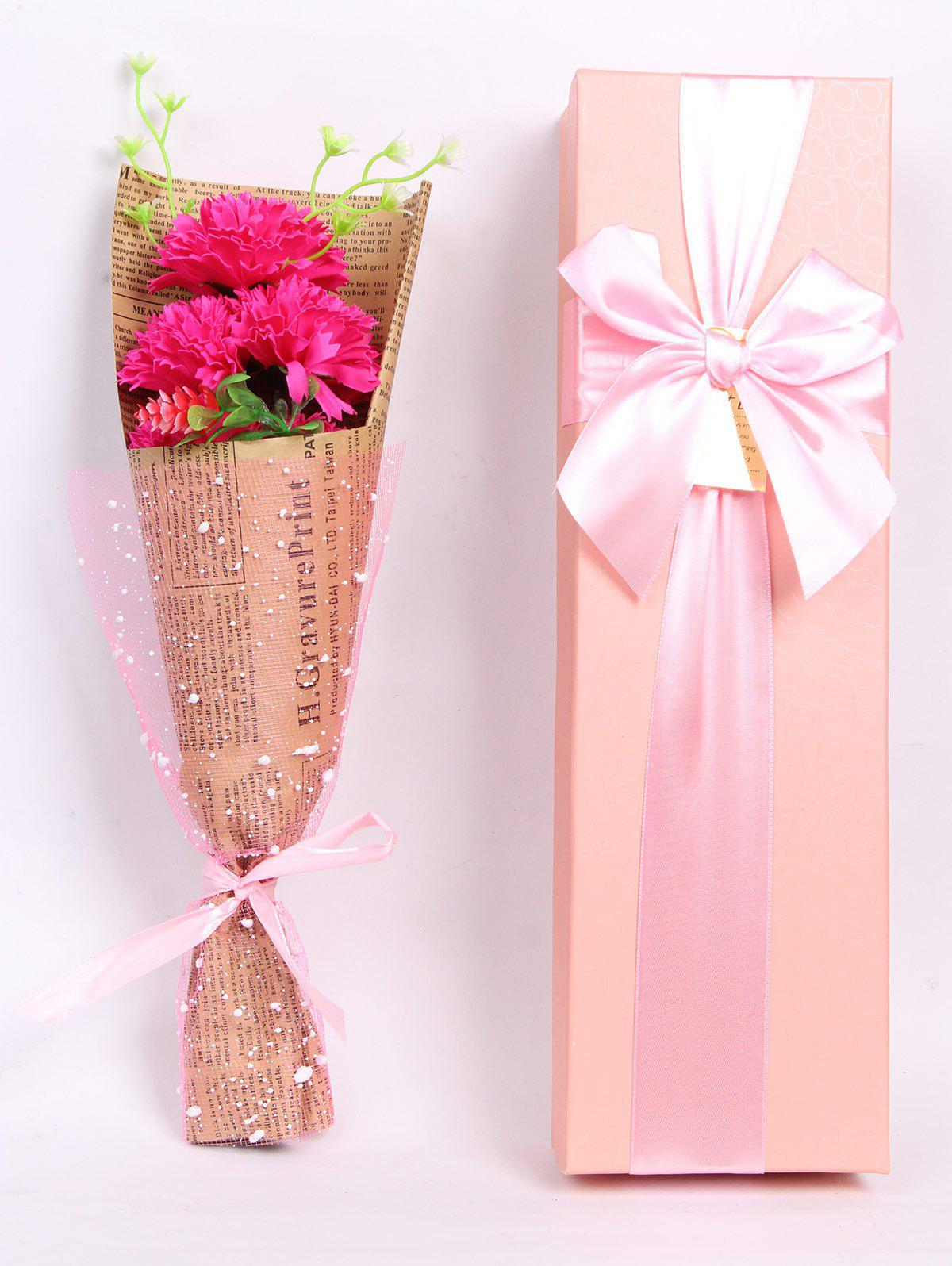Discount Creative Mother's Day Gift Carnation Soap 5PCS Artificial Flower