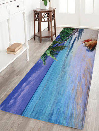 Water Absorbent Coral Fleece Beach Area RugHOME<br><br>Size: W24 INCH * L71 INCH; Color: COLORMIX; Products Type: Bath rugs; Materials: Coral FLeece; Pattern: Scenic; Style: Beach Style; Shape: Rectangular; Package Contents: 1 x Area Rug;