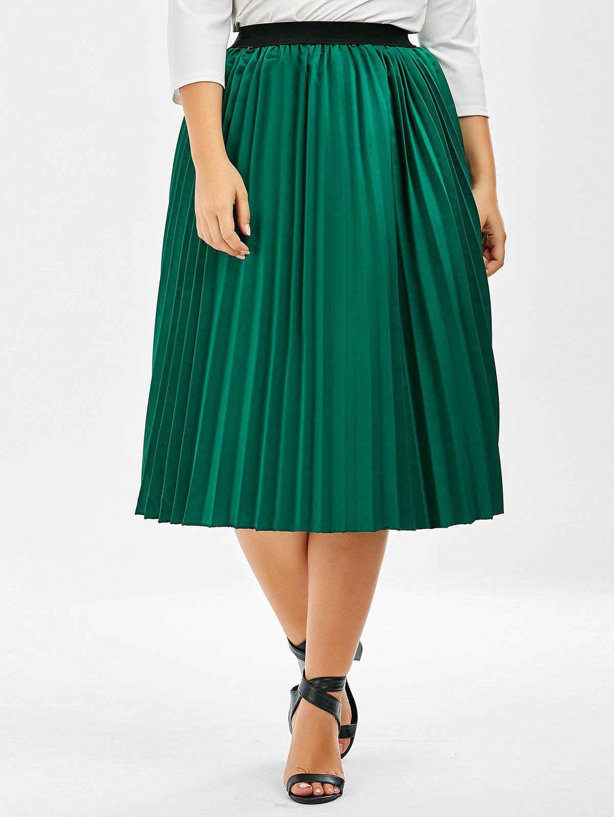 0512040b0dc Outfits Plus Size Sparkly Pleated Midi Skirt