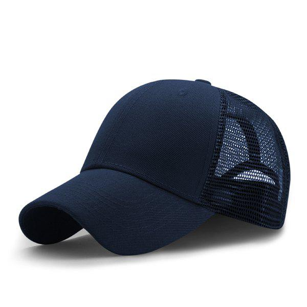 Breathable Mesh Insert Outdoor Baseball HatACCESSORIES<br><br>Color: CERULEAN; Hat Type: Baseball Caps; Group: Adult; Gender: For Men; Style: Active; Pattern Type: Solid; Material: Polyester; Circumference (CM): 56CM-60CM; Weight: 0.1200kg; Package Contents: 1 x Hat;