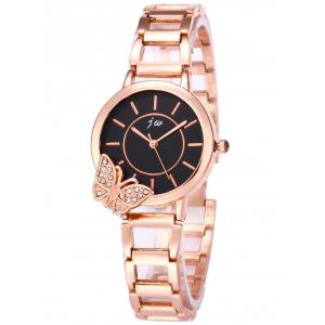 JW Rhinestone Butterfly Wrist Quartz Watch