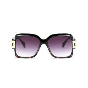 Hollow Cut Frame Oversize Gradient Lens Square Sunglasses -
