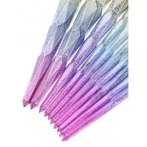 10 Pcs Glitter Rainbow Makeup Brushes Set - COLORMIX