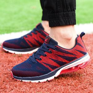 Breathable Color Block Athletic Sports Mesh Trainers - DEEP BLUE 44