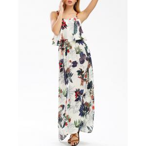 Maxi Printed Boho Slip Beachwear Dress