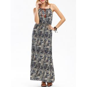 Paisley Print Maxi Boho Slip Beach Dress