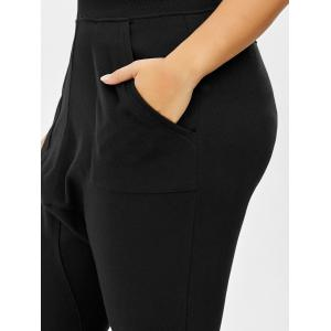 Plus Size Cropped Elastic Waist Pants -