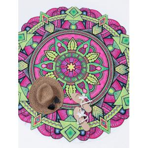 Print Sunbath Round Beach Throw