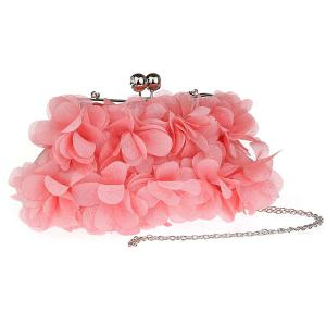 Kisslock Petal Satin Evening Bag - ROSE PÂLE