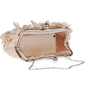 Kisslock Petal Satin Evening Bag - RAL1001Beige