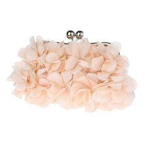 Kisslock Petal Satin Evening Bag -