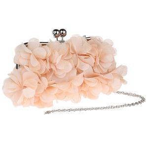 Kisslock Petal Satin Evening Bag - RAL Beige