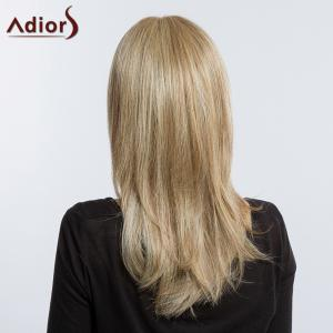 Adiors Long Silky Side Bang Layered Tail Adduction Synthetic Wig - COLORMIX