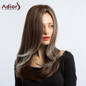 Adiors Long Side Part Silky Straight Hightlight Synthetic Wig
