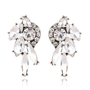 Faux Gemstone Rhinestone Earrings