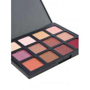 12 Colours Shimmer Matte Powder Eyeshadow Palette - #01