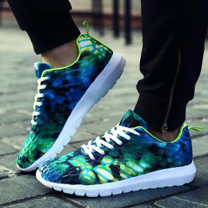 Breathable Printed Athletic Shoes -