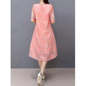 Brodé Layered A Line Dress - Rose Clair S