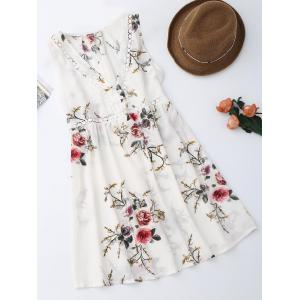 Sleevelss Chiffon Mini Floral Dress