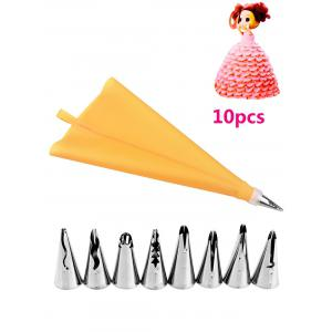 DIY Cake Decorating Squeeze Cream Stainless Steel Piping Nozzle Set