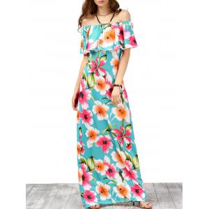 Off The Shoulder Floral Maxi Boho Summer Dress