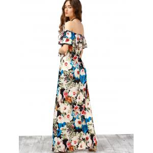 Off The Shoulder Floral Maxi Boho Summer Dress -