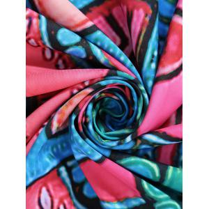 Print Sunbath Round Beach Throw - DEEP PINK ONE SIZE