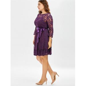 Lace Plus Size Skater Dress with Sleeves -