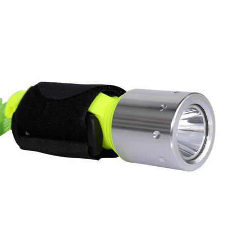 Hot Waterproof Underwater Flashlight with Wristband - NEON GREEN  Mobile