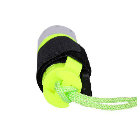 Latest Waterproof Underwater Flashlight with Wristband - NEON GREEN  Mobile