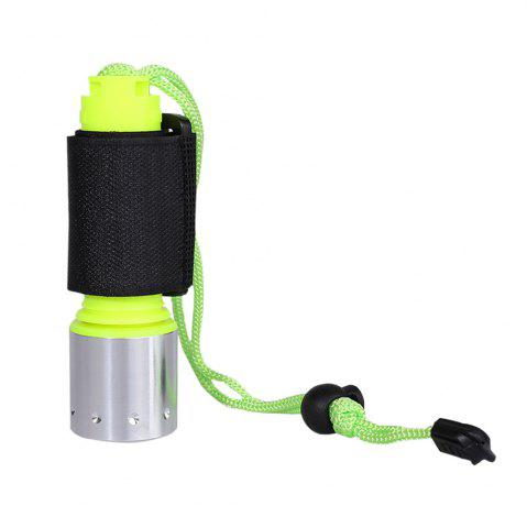 Shops Waterproof Underwater Flashlight with Wristband NEON GREEN