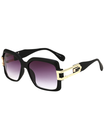Outfit Hollow Cut Frame Oversize Gradient Lens Square Sunglasses