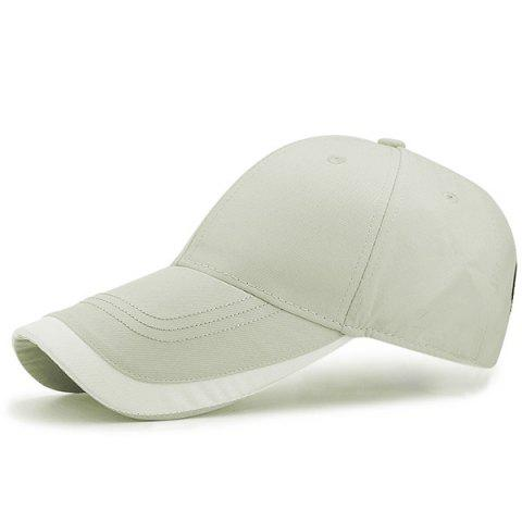 Outfits Letter Curving Brim Baseball Hat - LIGHT GRAY  Mobile