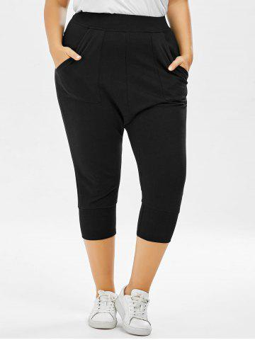 Store Plus Size Cropped Elastic Waist Pants