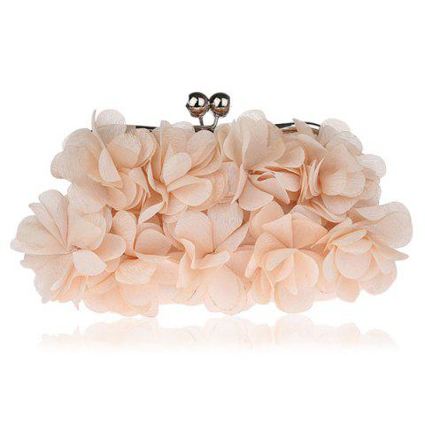 Kisslock Petal Satin Evening Bag RAL Beige