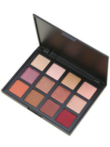 Outfits 12 Colours Shimmer Matte Powder Eyeshadow Palette - #01  Mobile