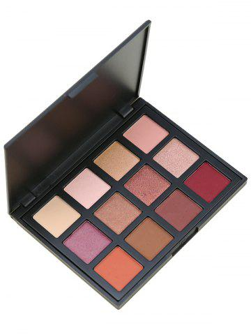 Discount 12 Colours Shimmer Matte Powder Eyeshadow Palette - #01  Mobile