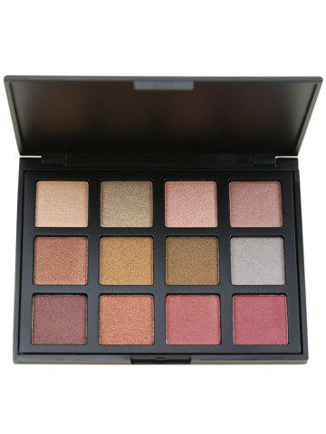 Outfits 12 Colours Shimmer Matte Powder Eyeshadow Palette #03
