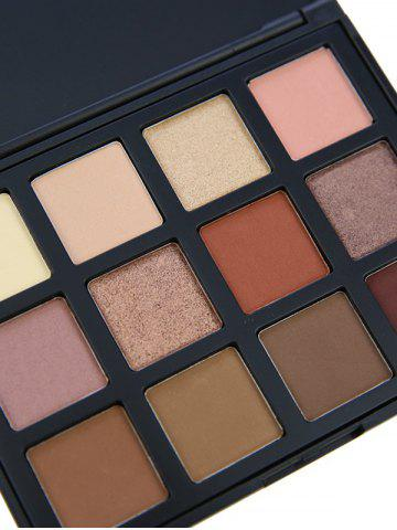 Outfits 12 Colours Shimmer Matte Powder Eyeshadow Palette - #05  Mobile
