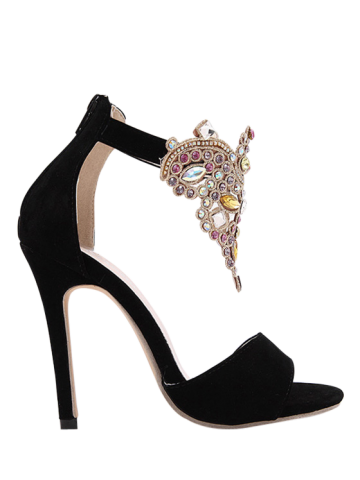 Best Gorgeous Stiletto Heel and Colorful Rhinestone Design Sandals For Women