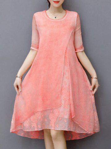 Brodé Layered A Line Dress Rose Clair S
