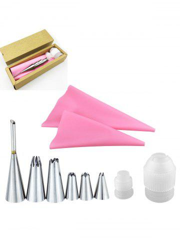 New Squeeze Cream Tools Stainless Steel Pastry Piping Nozzle Set - PINK  Mobile