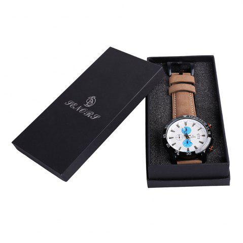 Buy Faux Leather Strap Number Date Analog Watch BLUE