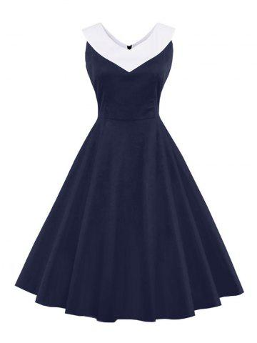 Shop V Neck Empire Waist A Line Swing Vintage Dress