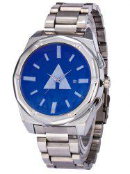 Steel Strap Geometric Date Quartz Watch